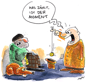 Cartoon von Ari Plikat